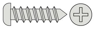 Philips Pan Head T/P Screws - DIN7981 Inox