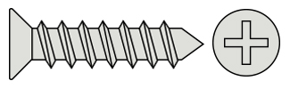Philips Flat Head T/P Screws - DIN7982 Inox