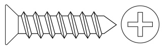 Philips Flat Head T/P Screws - DIN7982 Steel