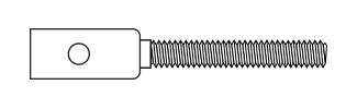 Threaded Coupler - Carbon Rod