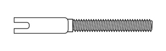 Threaded Coupler - Steel Wire