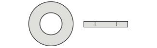 Flat Washers - DIN125 Inox